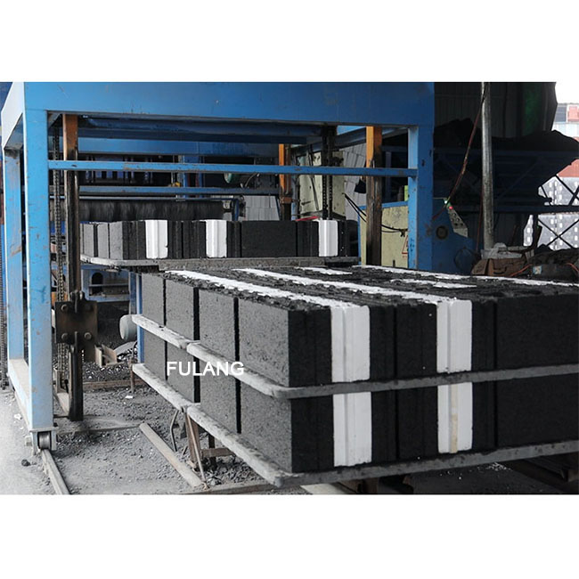Automatic EPS insulation concrete block brick making machine