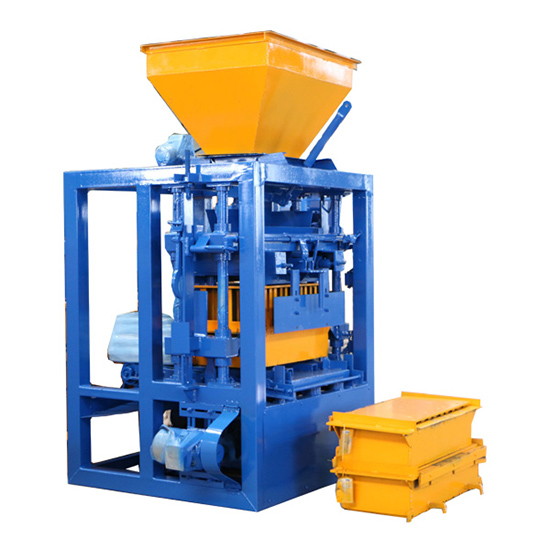 semi automatic concrete brick machine