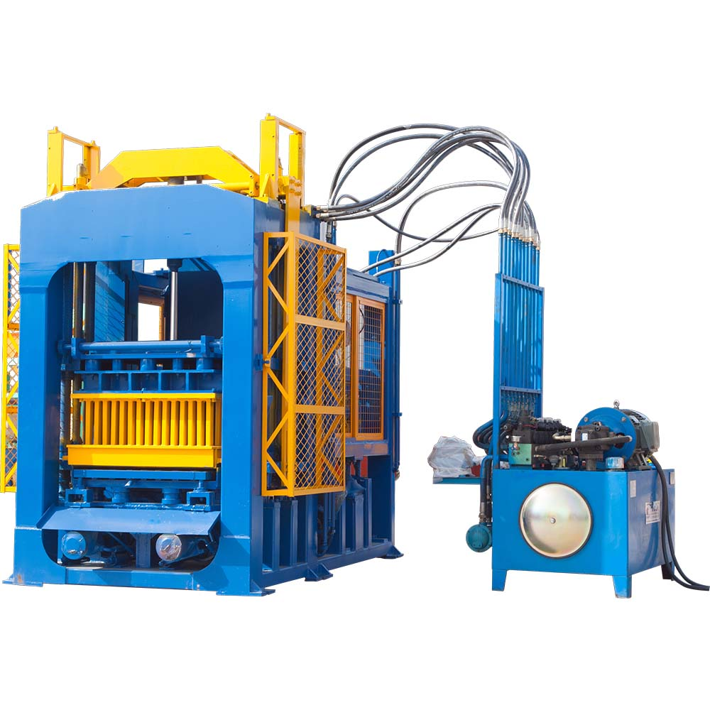 concrete hollow solid brick machine