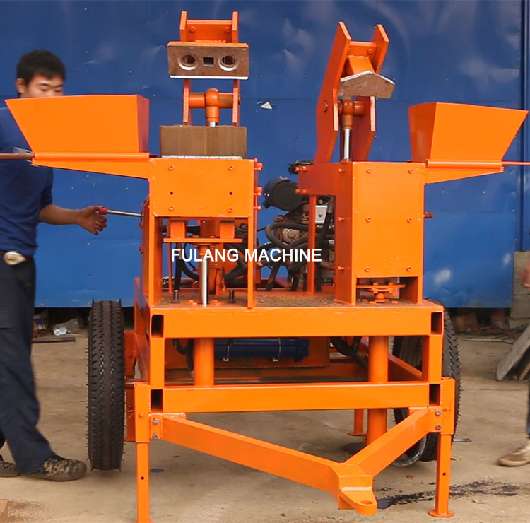 FL2-20 semi-automatic interlocking brick making machine