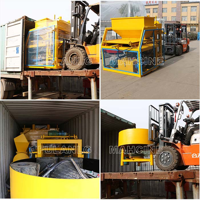 packing and delivery of FL7-10 auto clay brick machine