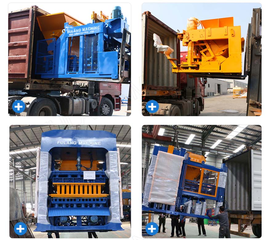 packing and delivery of hollow block machine