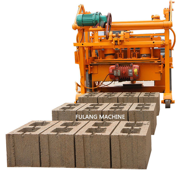 QTF40-3A mobile hollow block making machine